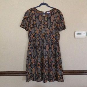 Paisley Print LuLaRoe Amelia Dress